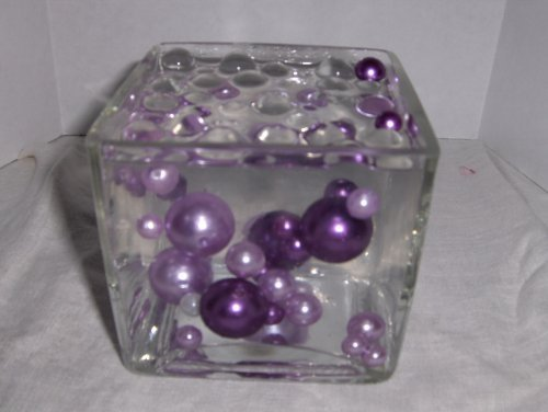 Easy Elegance by JellyBeadZ Lavender and Purple Pearl Beads Includes 12 Gram Pack JellyBeadZ Water Bead Gel Pearls - Great for Wedding Centerpieces and Decorations