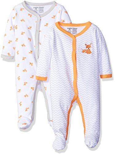 Luvable Friends Unisex Baby Cotton Sleep and Play, Fox, 3-6 Months