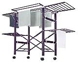 neun welten grazioso stendibiancheria in alluminio lunghezza 177,7 cm altezza 111 cm(nuovo in condizioni speciali) (viola)