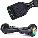 SISIGAD Bluetooth Hoverboard, 6.5' Two-Wheel Self Balancing Hoverboard w/Bluetooth Speaker - Pure...