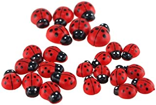 Homeford Firefly Imports Self Adhesive Lady Bug Plastic Favors, 3 Size, 24-Count, Red, 1/2