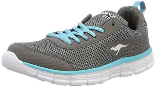 KangaROOS Unisex-Erwachsene K-Run REF Light Sneaker, Grau (Vapor Grey/Turquoise 2035), 36 EU