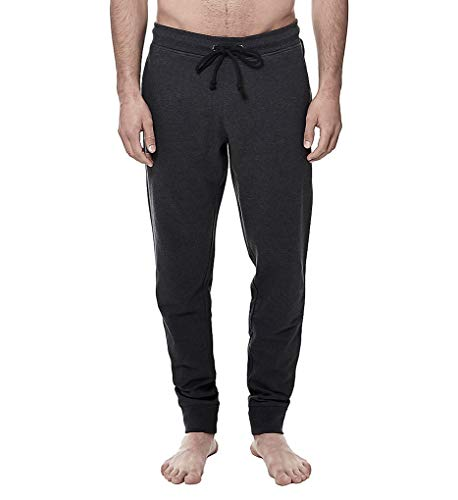 Bread and Boxers - Men's Premium Cotton Lounge Pants (X-Small, Dark Grey Mélange)