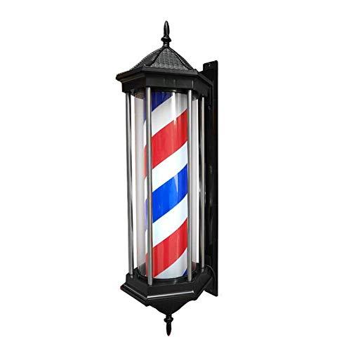 SAKLJA Barber Pole Led Light Exterior Poste De Barbero Luminoso De Exteriores para Peluquerías Profesional Lámpara De Pared Vintage - Rojo Azul Y Blanco 78cm/31in