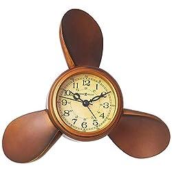 Howard Miller 645-525 Propeller Alarm Weather & Maritime Table Clock