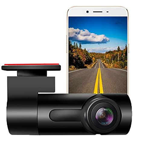BMDHA Dashcam,Sensores Aparcamiento Coche Lente Doble Giratoria De 270 ° InterconexióN WiFi De TeléFono MóVil,Camara Vigilancia Coche HD 1080p Vision Nocturna Camara Coche Mini Oculto
