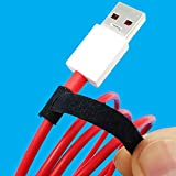 RIP-TIE Mini 1/4' x 3.5' Reusable Cable Ties Fuzzy Cable Wraps - Fasten USB Phone Charging Cable, Audio Cord, Earbud Wire to a Small Bundle, Made in USA, 56-Pack, Black