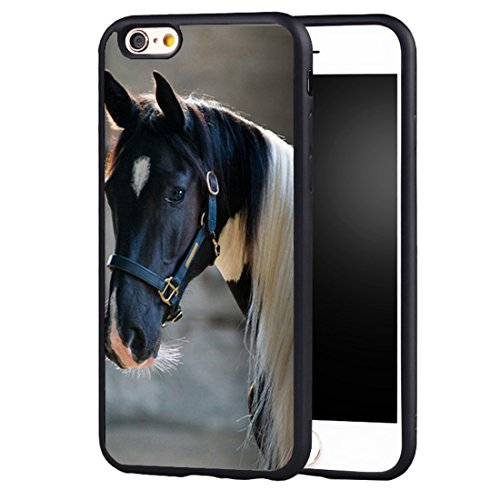 iPhone 8 Case Horse,iPhone 7 Case TPU Skin Cover Protective Rubber Silicone Beautiful Horse Animal Case for Apple iPhone 8/iPhone 7