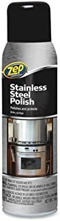 Zep Stainless Steel Spray Cleaner - Aerosol - 14 oz (1.19 lb) - Chrome, Black