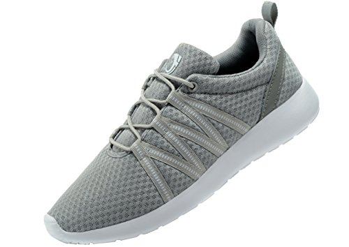 Women's Running Shoes Workout Fitness Sneakers Athletic Lightweight Casual Sports Shoes (39 M EU/8.5 B(M) US, Grey)