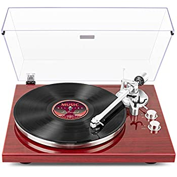 1 BY ONE Belt Drive Turntable with Wireless Connectivity Built-in Phono Pre-amp USB Digital Output Vinyl Stereo Record Player with Magnetic Cartridge 33 or 45 RPM