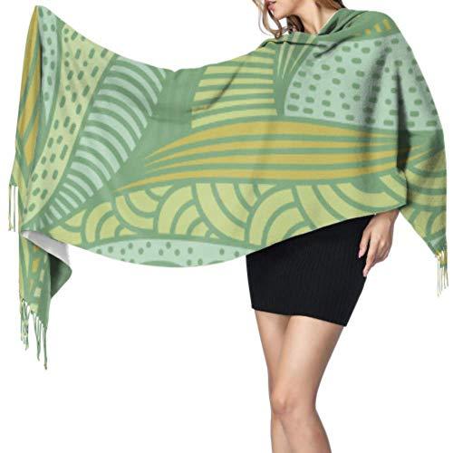 Green Cute Fresh Fashion Plant Aloe Ladies Wrap Chal Bufandas Cashmere For Women Wrap Chal para mujeres 77x27inch / 196x68cm Large Soft Pashmina Extra Warm