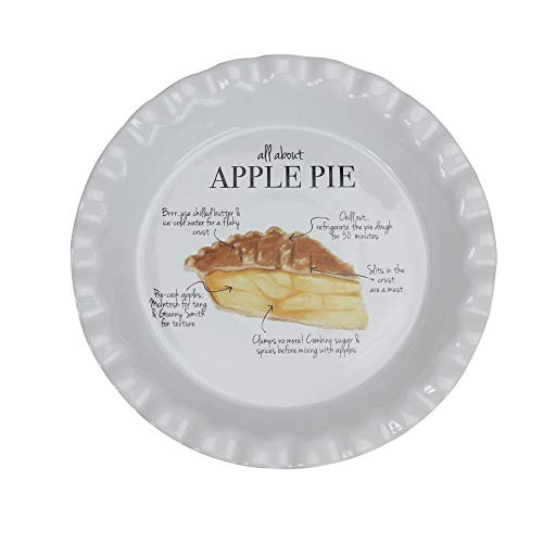 "9"" Ivory ""All About Apple Pie"" Autumn Thanksgiving Plate"