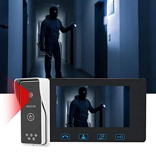 Eosnow Videoportero con Visor de Puerta de Alta definición con Control de Cerradura eléctrica, para Seguridad en el hogar(100-240V European Standard, Transl)