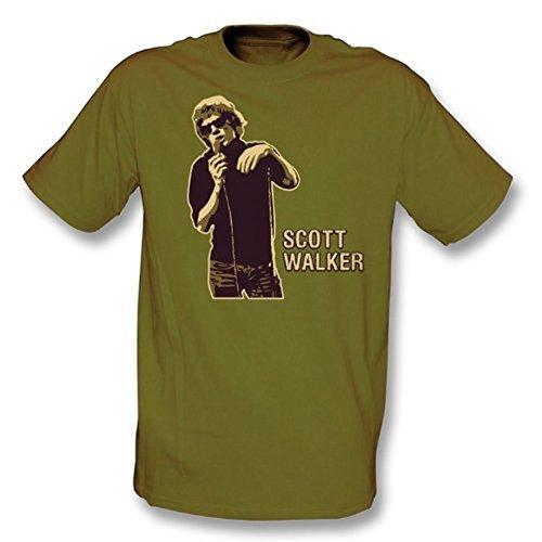 TshirtGrill Scott Walker T-Shirt pour Fille Coupe Slim Olive foncé Taille XL