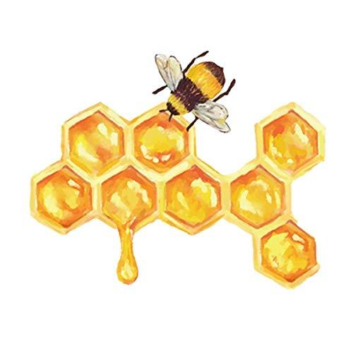 SSQ Honey Bees Make Honey Decal Cartoon Car Sticker 14.8Cm*11.9Cm