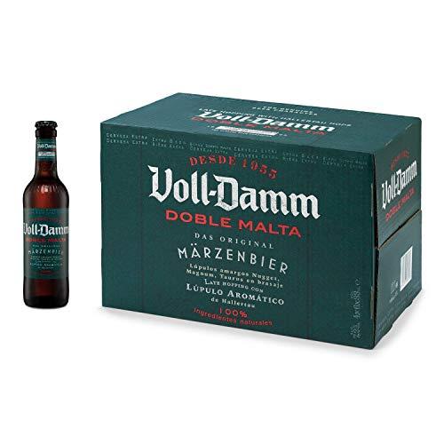 Damm - Cerveza Voll-Damm Doble Malta, Caja de 24 Botellas 33cl | Cerveza Doble Malta, Estilo Märzenbier, 100% Ingredientes Naturales, Original, Alta Calidad, en Botella