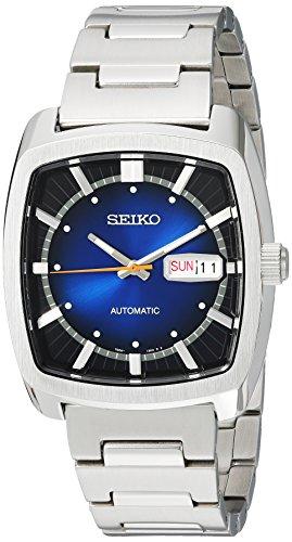 Seiko 'Recraft Serie' Herrenuhr, automatische Edelstahl-Armbanduhr, Farbe: silberfarben (Modell: SNKP23)
