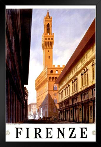 Italy Firenze Florence Visit Historic City Vintage Illustration Travel Cool Wall Decor Art Print Poster 24x36