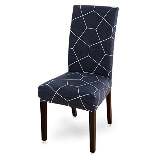 LLAAIT 1/2/4/6pcs Printing Dining Chair Cover Spandex Elastic Slipcover Removable Anti-dirty Kitchen Seat Case Stretch Chair Cover,19,China