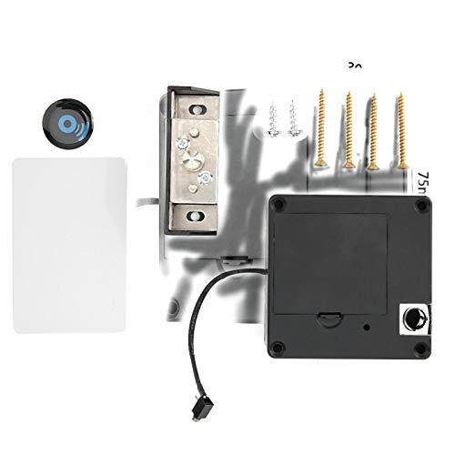 Cerradura de gabinete Cerradura de inducción Cerradura de tarjeta electrónica Cerradura de cajón Seguridad Conveniente antirrobo para el hogar para la oficina
