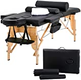 Massage Table Massage Bed Spa Bed 73 Inch Heigh Adjustable 2 Folding Portable