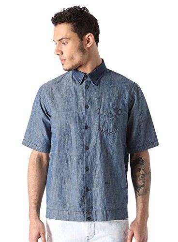 Camicia Uomo DIESEL D MAK POC 00SPKG 0 palt Primavera Estate 2016 Jeans L