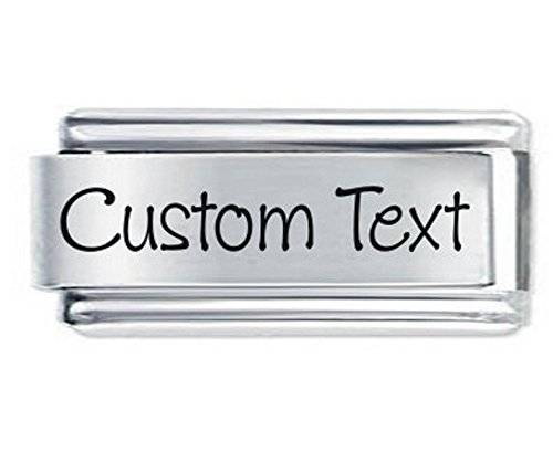 Superlink Custom Made Personalised Italian Charm - Any Name or Phrase - fits all 9mm Italian Style Charm Bracelets