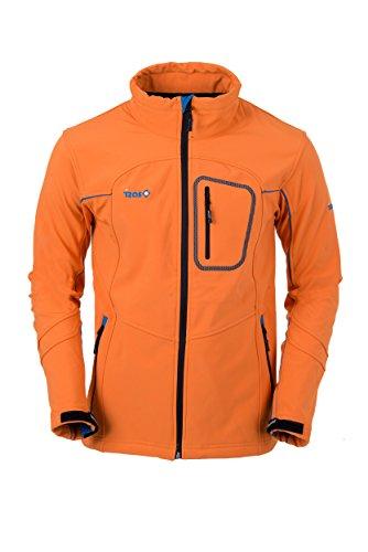 IZAS EUME Veste Softshell Homme, Orange/Royal, FR : 2XL (Taille Fabricant : XXL)