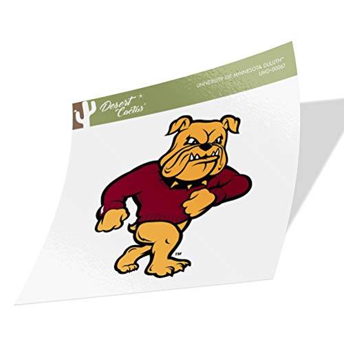 University of Minnesota Duluth UMD Bulldogs Vinyl Decal Laptop Water Bottle Car Scrapbook (Sticker - 00067)