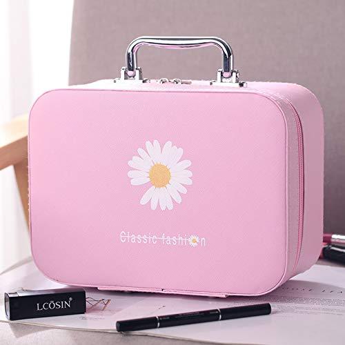 Sac cosmétique Portable Grande capacité Voyage Sac de Rangement Voyage étanche boîte de Maquillage 18 * 25 * 11 CM Grand Rose
