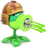 Plants Vs Zombies Peashooter PVZ Blowgun Gatling Shooting Toy PVC Action Figure Model Dolls Toy Shooting Toy Kids Gifts for Girls Boys