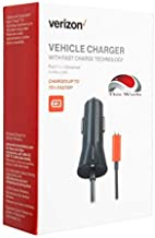 Verizon Fast Micro USB Car Charger with 2.7 Amp Fast Charger Technology for Samsung S7/S6/Edge, LG G4, Moto Droid/X, Sony, HTC & Most Micro USB Devices.
