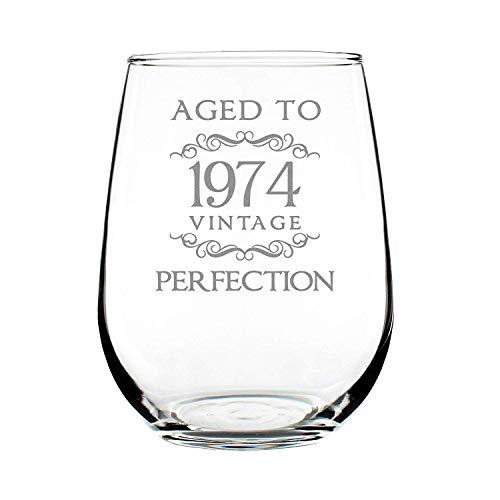 Geboren voor-Anime (15oz - Nooit Fade Graveren Patronen Wijnglas Goede Handheld Speciale Wijnliefhebber Collectie,1959 1964 1969 1989 60e Verjaardag Geschenken Stemless Wijnglas voor Vrouwen & Mannen