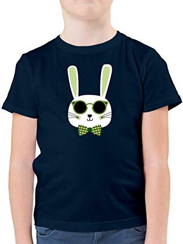Ostern Kinder - Osterhase Sonnenbrille Grün - 116 (5/6 Jahre) - Dunkelblau - Oster Shirt Kinder 104 - F130K - Kinder Tshirts und T-Shirt für Jungen
