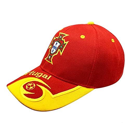 XZQ Gorra de béisbol con patrón de Bandera Portuguesa para 2021 Sombrero de Deportes de Ventilador de la Copa Europea Adecuado para Hombres y Mujeres (Color : A)