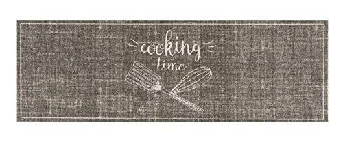 Bavaria-Home-Style-Collection- – Rutschfester und waschbarer Design Küchenläufer | 50 x 150 cm | Motiv: Cooking Time