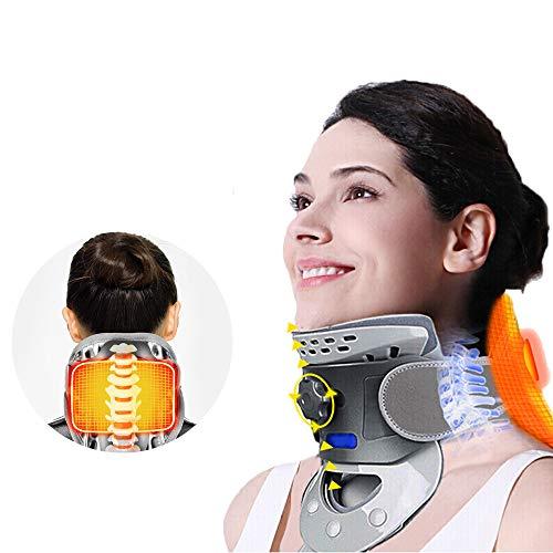 Dispositivo de tracción Cervical, Soporte de collarín casero, collarín de Cuello Caliente, para aliviar el Dolor de Cuello y la espondilosis Cervical (Unisex)
