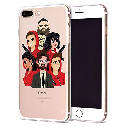 Giorno TV La CAS De Papel Funda iPhone Silicone Case Phone Cover S03 For Funda iPhone 6 Plus (Funda iPhone 6S Plus)