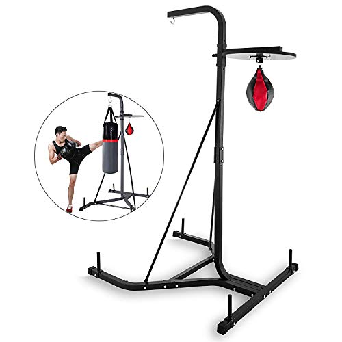 Happybuy Free Standing Boxing Bag Stand Foldable Single Station Heavy Bag Stand for Home Fitness (Speed Bag)