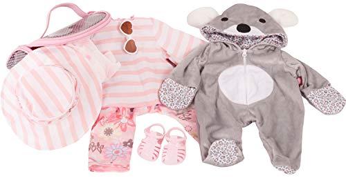 Götz 3403040 Babykombi Immer Schick - Puppenbekleidung Gr. L - 9-teiliges Bekleidungs- und Zubehörset für Babypuppen (z.B Cookie) von 48 - 50 cm