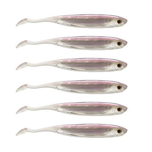 Dr.Fish Softbait Wiggle Shad Soft Plastic Swimbait Fishing Lure Smallmouth Bass Perch 3.15inch