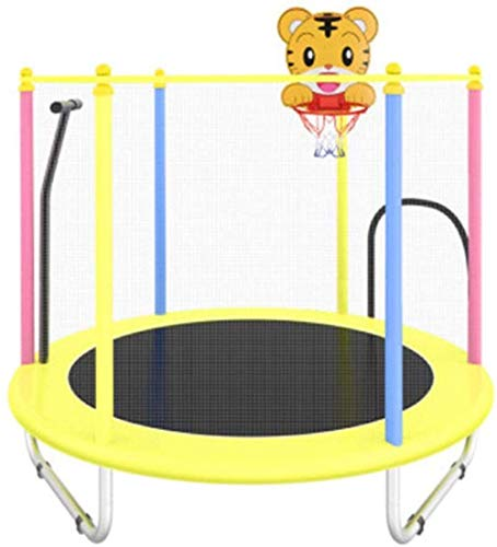 LBBGM Trampoline trampoline with safety fence garden net for jumping mat and cushioned spring cover, mini trampolines for children