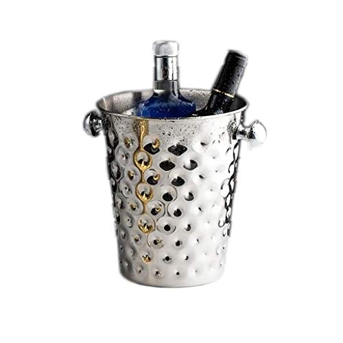 WJCCY Engrosada Creativo del Cubo de Hielo de Acero Inoxidable Cubo de Champán con la manija en el Lado