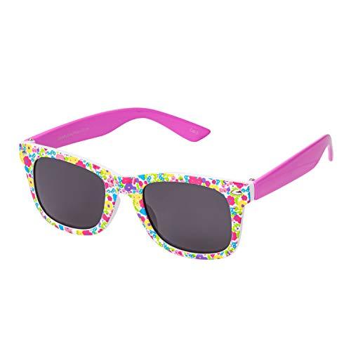 Ultra Rosa Blumenmuster Schwarz Klassische Sonnenbrille für Kinder UV400 Schutz UVA UVB Unisex Mädchen Jungen Retro Vintage Brille