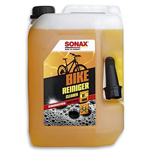 SONAX BIKE Reiniger (5 Liter) Fahrradreiniger für Aluminium, Mattlacke, Carbon- & Kunststoffoberflächen, reinigt Kette & Zahnkränze, für E-Bike, materialschonend | Art-Nr. 08525000