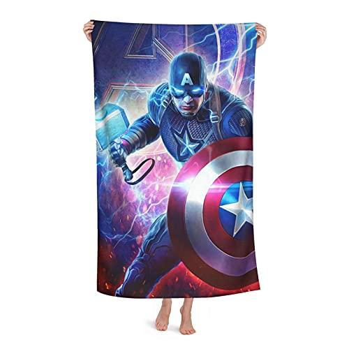 Capitán América Lifts Thor Hammer - Toalla de baño para playa, camping, secado rápido, súper absorbente, suave, microfibra, baño fino y súper suave