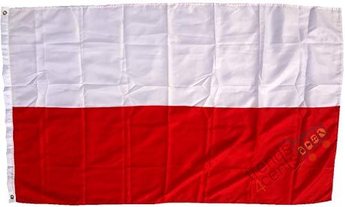 trends4cents Drapeau de la Pologne Polski Polski Poland Drapeau Extra résistant 250 x 150 cm 100 g/m²