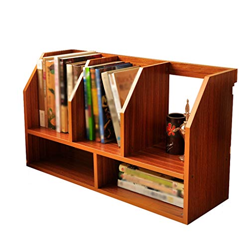 xiaokeai Bookcase shelf Simple Desktop Small Bookshelf Simple Double Storage Box Multi-function Suitable For Students/Home/Office Bookshelf Display