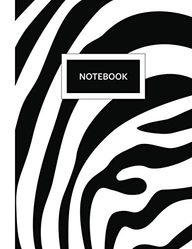 Notebook: A Large Zebra Print Composition Journal With College Ruled Medium Lines For Men, Women, Boys And Girls For Journaling, Office Meeting Notes, ... & University (Animal Print Notebook, Band 3)